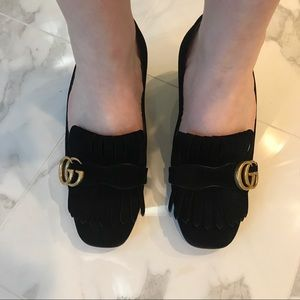 5c04ac91ab0 Gucci Shoes - Gucci Suede Mid Heel Pump- Never Worn!